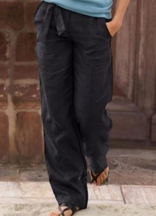 Новые женские льняные штаны лен 100% ч6