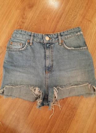 Топовые шорты джинсовые
