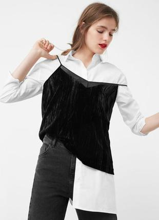 Новая велюровая топ блуза кофточка на бретелях mango