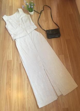 Юбка, длинная юбка, лён