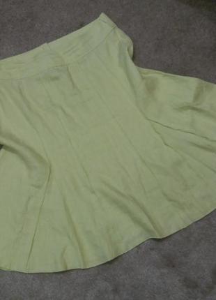 Женская юбка миди # льяная юбка # лён