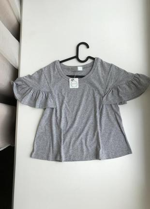Кроп топ футболка с рукавами фанариками
