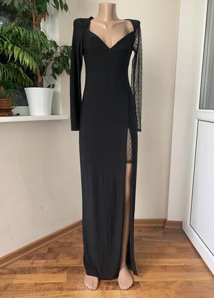 Вечернее платье в пол с разрезом