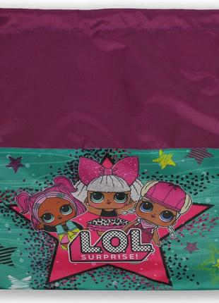Детская сумка для сменной обуви для девочки лол смарт розовая