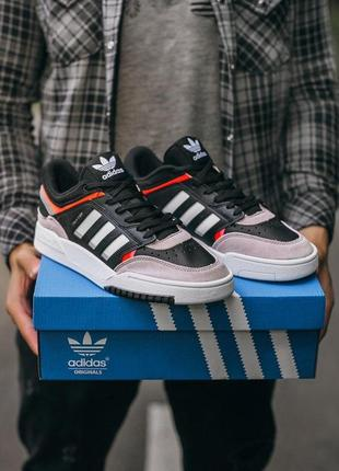 "Мужские кроссовки adidas drop step ""black\grey\orange"""