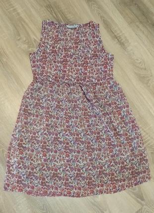 Стильное летнее платье в цветочек