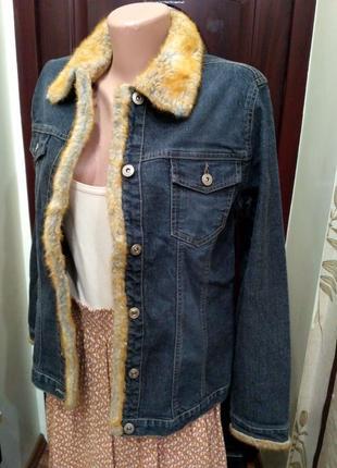 Street one джинсовая куртка с искусственным мехом