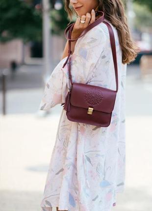 Кожаная женская бохо-сумка