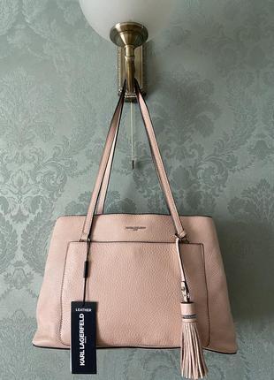 Женская брендовая кожаная сумка karl lagerfeld;кожа; новая, оригинал