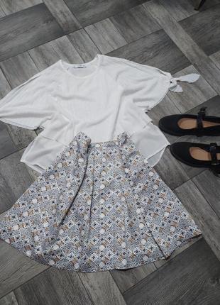 Милая юбка из натурального шелка на полкладке