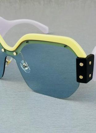 Miu miu очки женские солнцезащитные большие разноцветные яркие с градиентом