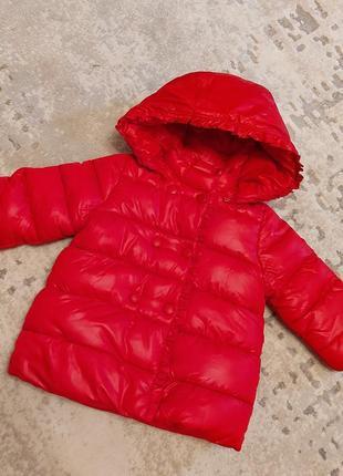 Нереально крутая зимняя куртка mayoral на девочку 12 мес