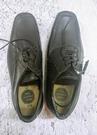 Кожаные туфли лоферы george 36