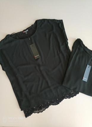 Красивая фирменная футболка блуза от немецкого бренда street one