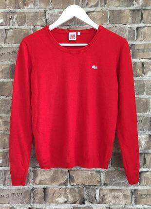 Оригінал джемперок lacoste,шикарного кольору red, розмір м 🔥🔥