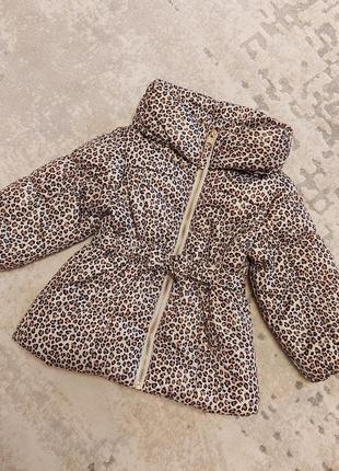 Куртка h&m  демисезон на малышку 12-18 мес