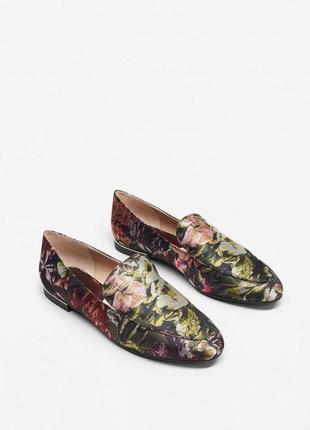 Жаккардовые туфли балетки mango 🔥