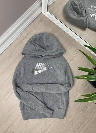 Nike найк женская кофта серая свитшот худи толстовка оригинал