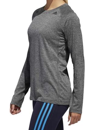 Лонгслив адидас кофта adidas футболка термо climalite серый размер l,