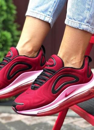 Nike air max 720 жіночі кросівки 🆕 женские кроссовки найк аир макс 720 🆕 темно красный