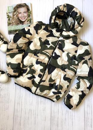 Sale!!!зимняя куртка принт камуфляж
