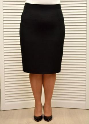 Базовая черная юбка с талией на резинке