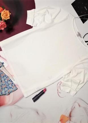Модная футболка h&m с пышными рукавами, размер l/xl