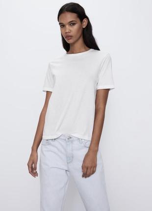 Базовая белая футболка zara