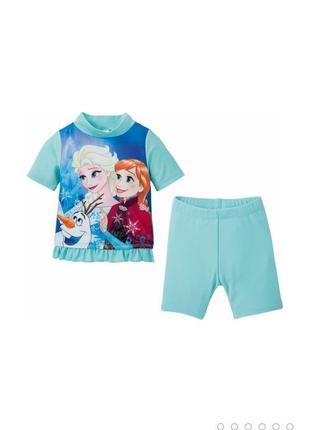 Пляжный костюм/купальник для девочки disney от немецкого бренда детской одежды lupilu