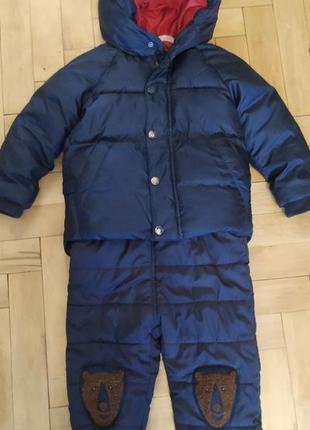 Зимний костюм, зимний комбинезон, зимовий комбінезон, зимовий костюм, куртка для мальчика