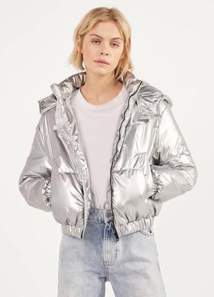 Трендовая куртка пуфер еврозима berska zara mango