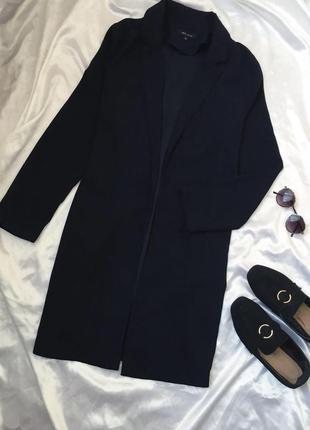 Пальто-кардиган без застежек / пиджак удлиненный