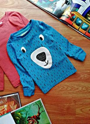 Детский лонгслив - футболка с длинным рукавом для мальчика m&s - возраст 2-4 года