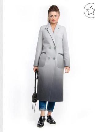 Пальто с градиентом