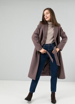 Стильное пальто season дороти модного цвета мокко