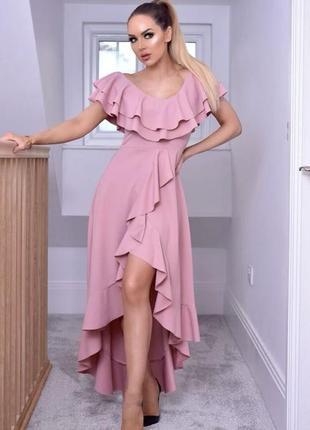 Платье с воланами missfiga dresses