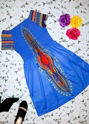 🎁1+1=3 фирменное нарядное синее платье миди joe browns , размер 46 - 48