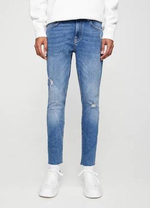 Новые с этикетками стильные мужские джинсы pull&bear skinny евро 42 usa 32