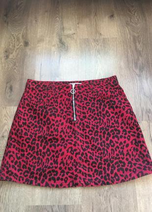 Плотная джинсовая юбка, на замочке