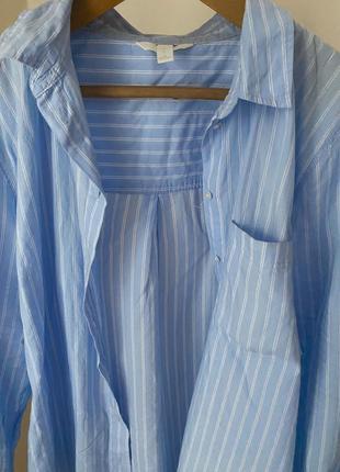 Рубашка блуза в полоску белая голубая от h&m💙