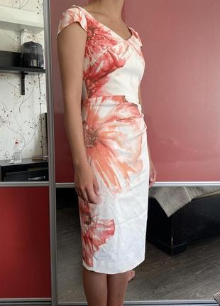 Красивое белое платье от karen millen2 фото