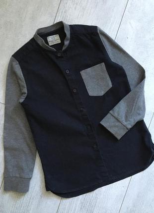 Рубашка трикотажная воротник стойка 5-6 лет