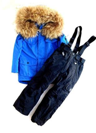 Комбинезон куртка парка из непромокаемой ткани+штаны полукомбинезон от matalan