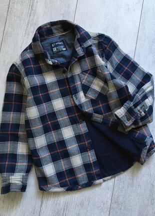 Тёплая рубашка пиджак 4-5 лет