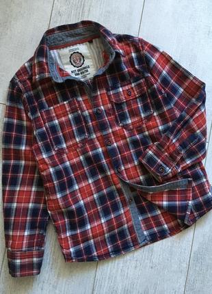 Тёплая рубашка некст 5 лет байковая