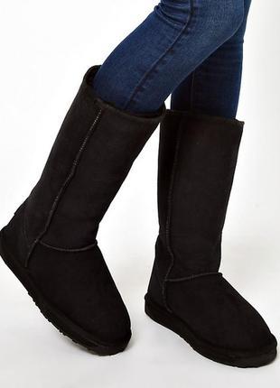 Новые высокие сапоги emu australia унисекс w us8 мех зима ugg угги ботинки сапоги на меху