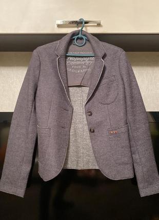 Шерстяной пиджак фирменный napapijri