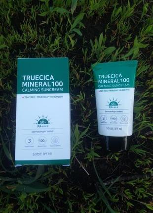 Солнцезащитный крем some by mi truecica mineral 100 calming sun cream spf50+ pa++++