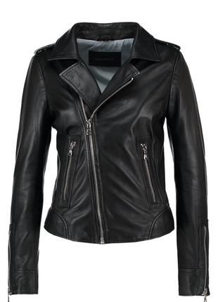 Новая идеальная куртка косуха oakwood, франция. 100% кожа чёрная