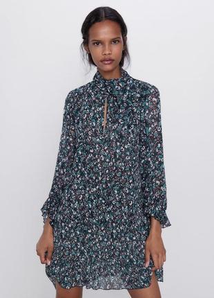 Новое платье zara в цветочек